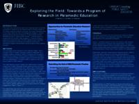 Exploring the field: towards a program of research in paramedic education