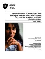 Empowerment of immigrant and refugee women who are victims of violence in their intimate relationships